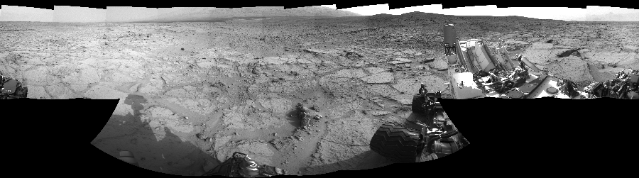 This Cylindrical Perspective image was acquired by NASA's Mars rover Curiosity on Sol 122, at drive 938, site number 5.