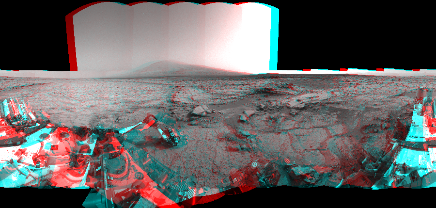 This 3D Mosaics image was acquired by NASA's Mars rover Curiosity on Sol 169, at drive 0, site number 6.