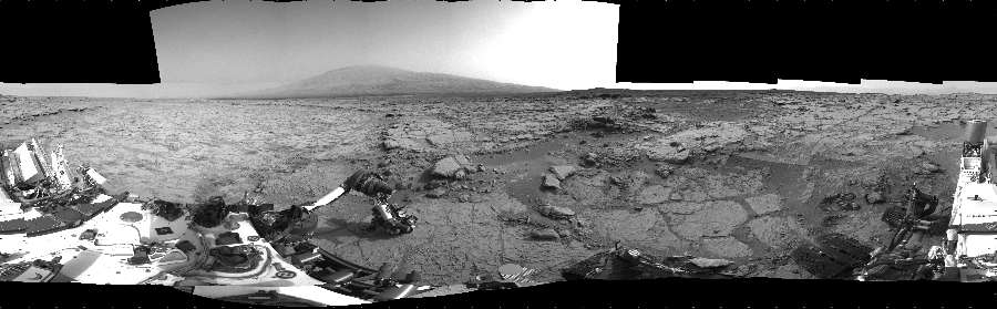 This Cylindrical image was acquired by NASA's Mars rover Curiosity on Sol 169, at drive 0, site number 6.