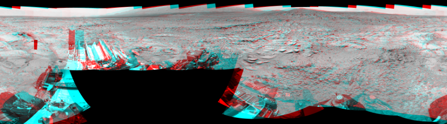 This Cylindrical Perspective image was acquired by NASA's Mars rover Curiosity on Sol 308, at drive 646, site number 6.