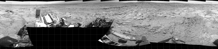 This Cylindrical image was acquired by NASA's Mars rover Curiosity on Sol 308, at drive 646, site number 6.