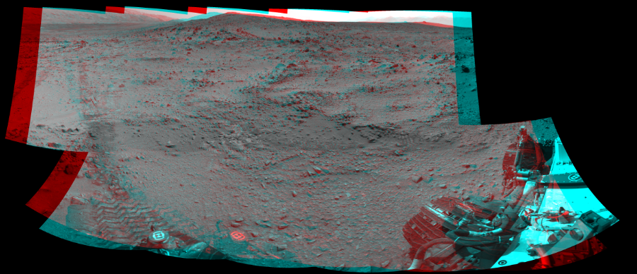 This 3D Mosaics image was acquired by NASA's Mars rover Curiosity on Sol 324, at drive 0, site number 7.
