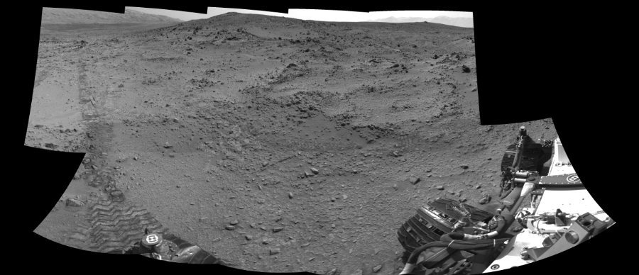 This Cylindrical Perspective image was acquired by NASA's Mars rover Curiosity on Sol 324, at drive 0, site number 7.