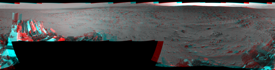 This 3D Mosaics image was acquired by NASA's Mars rover Curiosity on Sol 333, at drive 0, site number 8.