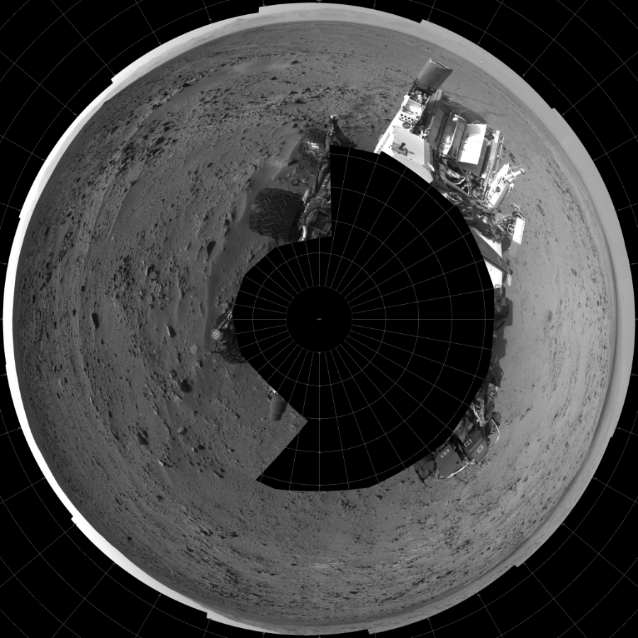 This Polar image was acquired by NASA's Mars rover Curiosity on Sol 333, at drive 0, site number 8.
