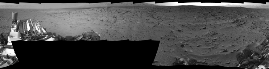 This Cylindrical Perspective image was acquired by NASA's Mars rover Curiosity on Sol 333, at drive 0, site number 8.