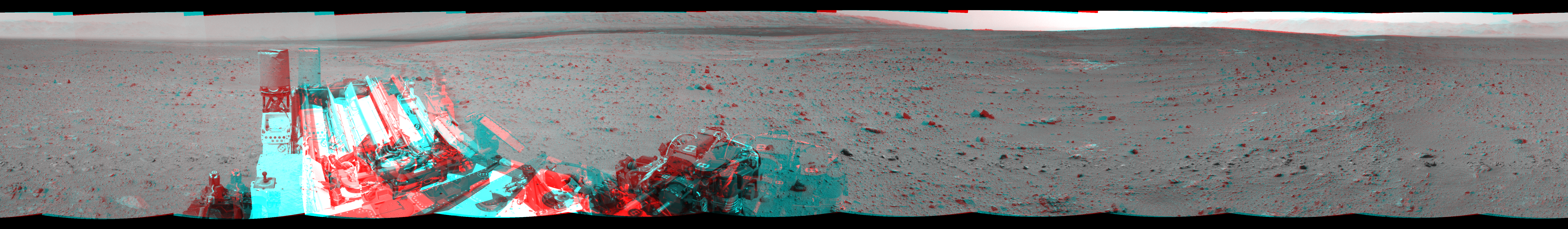 This 3D Mosaics image was acquired by NASA's Mars rover Curiosity on Sol 340, at drive 0, site number 9.