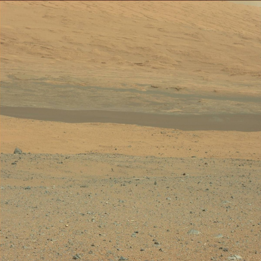 NASA's Mars rover Curiosity acquired this image using its Mast Camera (Mastcam) on Sol 3