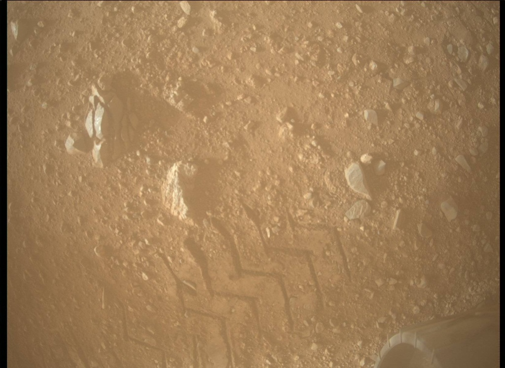 NASA's Mars rover Curiosity acquired this image using its Mars Descent Imager (MARDI) on Sol 21