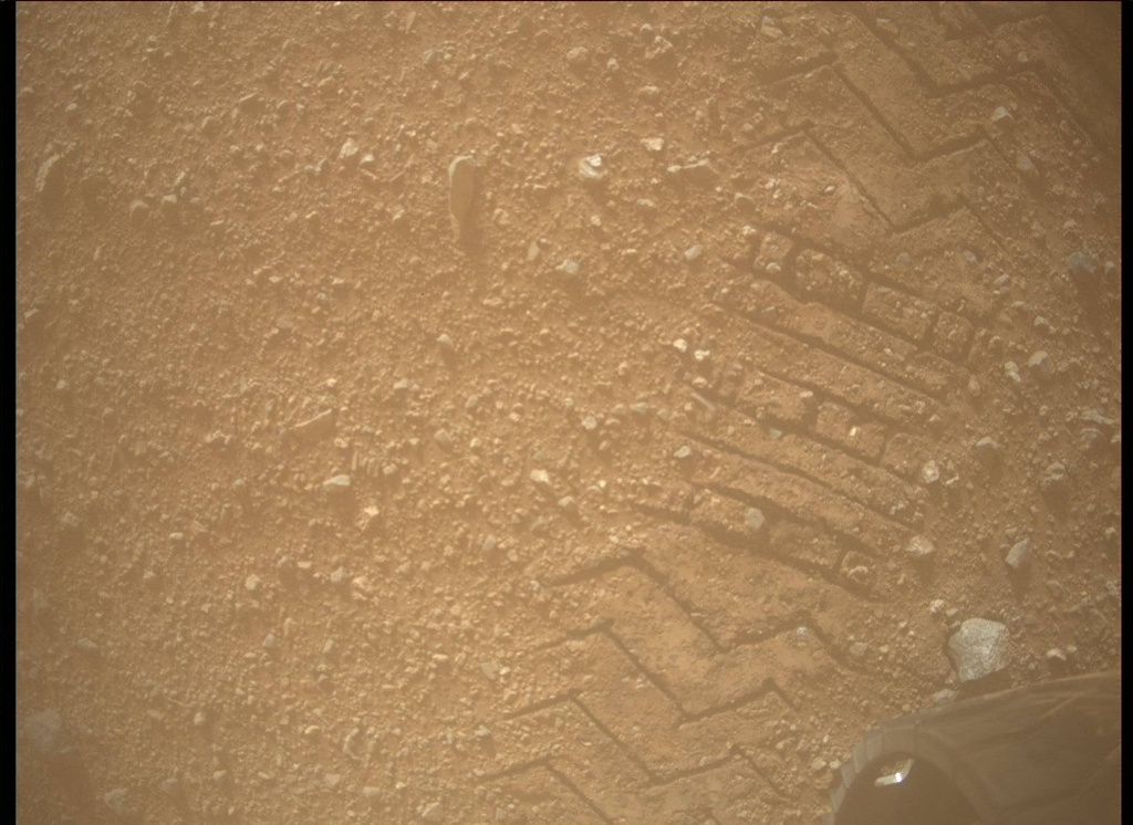 NASA's Mars rover Curiosity acquired this image using its Mars Descent Imager (MARDI) on Sol 25