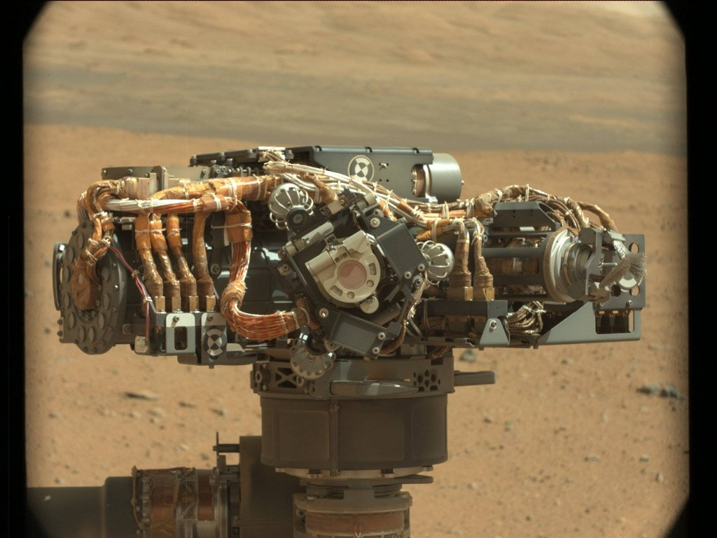 NASA's Mars rover Curiosity acquired this image using its Mast Camera (Mastcam) on Sol 32
