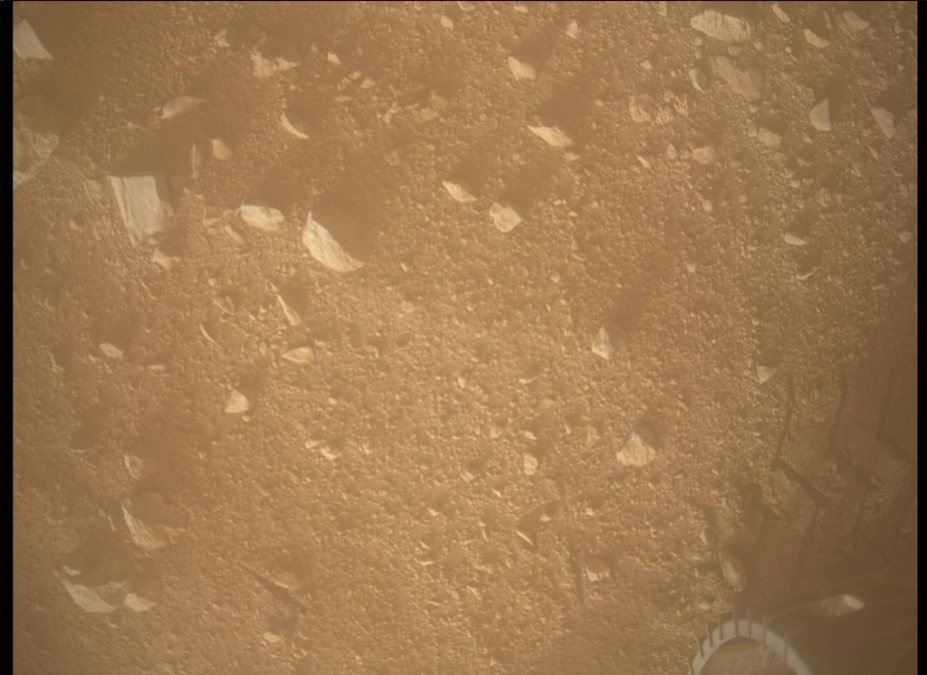 NASA's Mars rover Curiosity acquired this image using its Mars Descent Imager (MARDI) on Sol 37