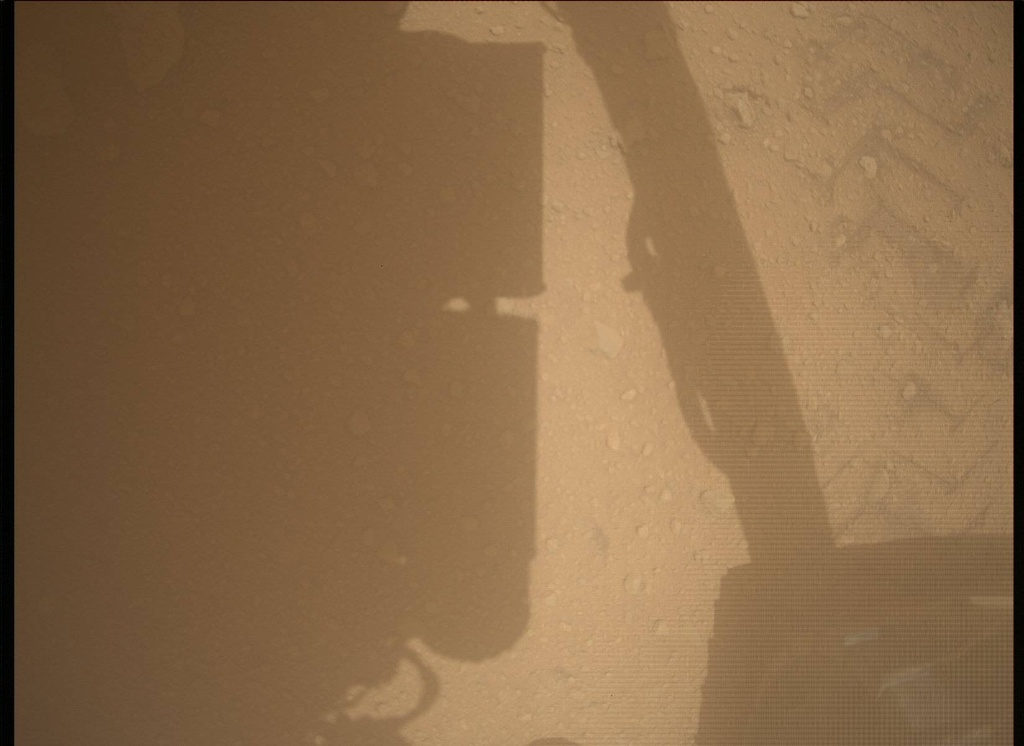 NASA's Mars rover Curiosity acquired this image using its Mars Descent Imager (MARDI) on Sol 39