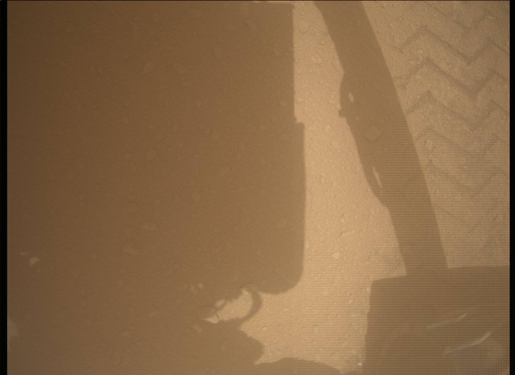 NASA's Mars rover Curiosity acquired this image using its Mars Descent Imager (MARDI) on Sol 40