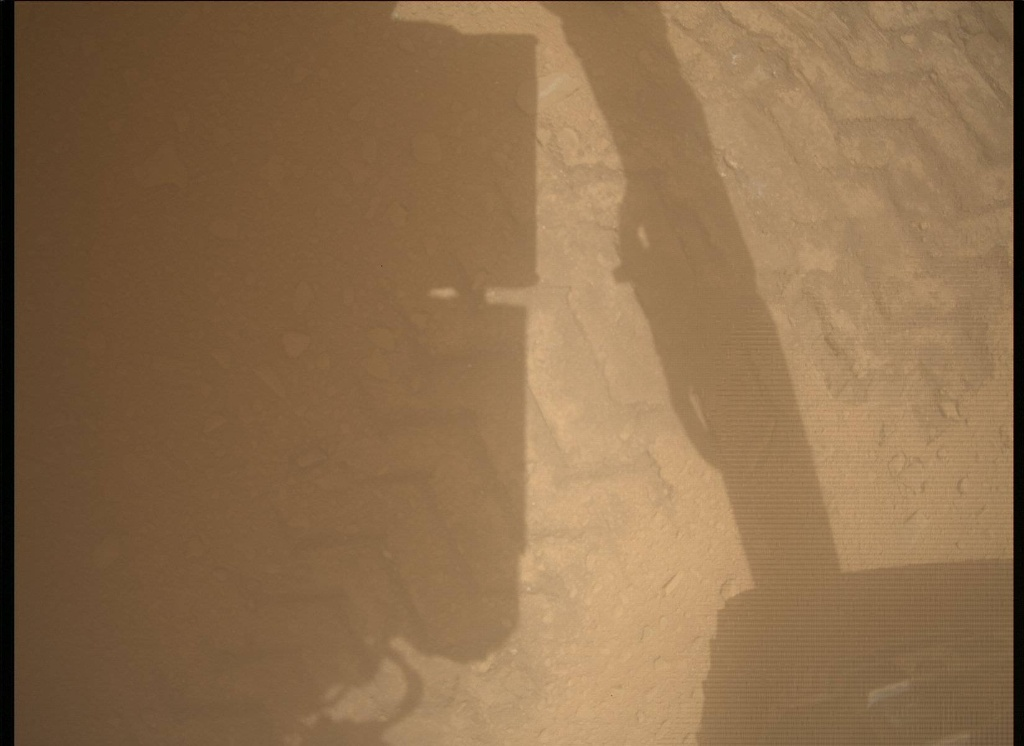 NASA's Mars rover Curiosity acquired this image using its Mars Descent Imager (MARDI) on Sol 52
