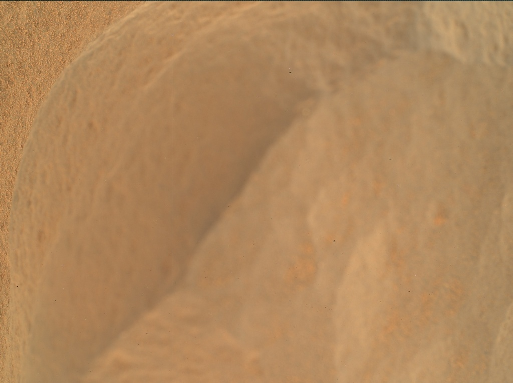 NASA's Mars rover Curiosity acquired this image using its Mars Hand Lens Imager (MAHLI) on Sol 54