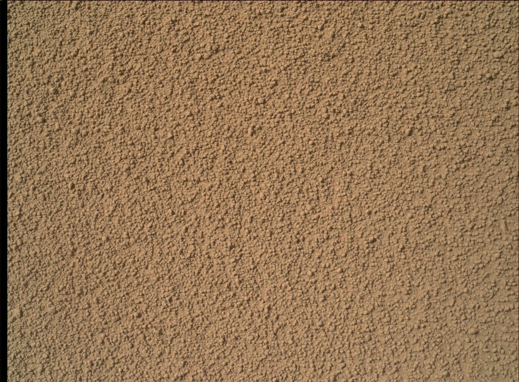 NASA's Mars rover Curiosity acquired this image using its Mars Hand Lens Imager (MAHLI) on Sol 60