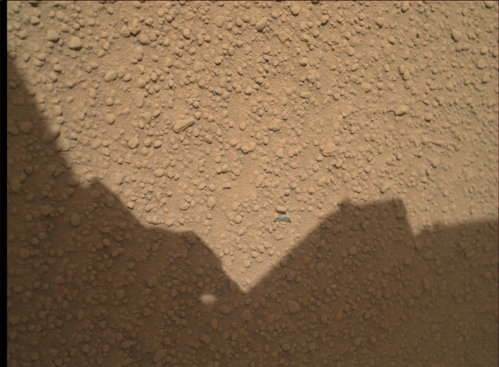 NASA's Mars rover Curiosity acquired this image using its Mars Hand Lens Imager (MAHLI) on Sol 65