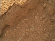NASA's Mars rover Curiosity acquired this image using its Mars Hand Lens Imager (MAHLI) on Sol 67