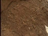 NASA's Mars rover Curiosity acquired this image using its Mars Hand Lens Imager (MAHLI) on Sol 69
