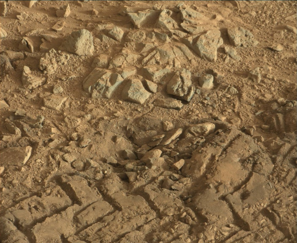 NASA's Mars rover Curiosity acquired this image using its Mast Camera (Mastcam) on Sol 94