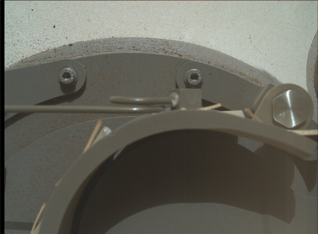 NASA's Mars rover Curiosity acquired this image using its Mars Hand Lens Imager (MAHLI) on Sol 96