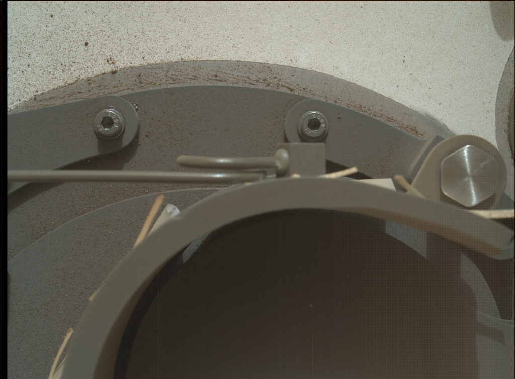 NASA's Mars rover Curiosity acquired this image using its Mars Hand Lens Imager (MAHLI) on Sol 98