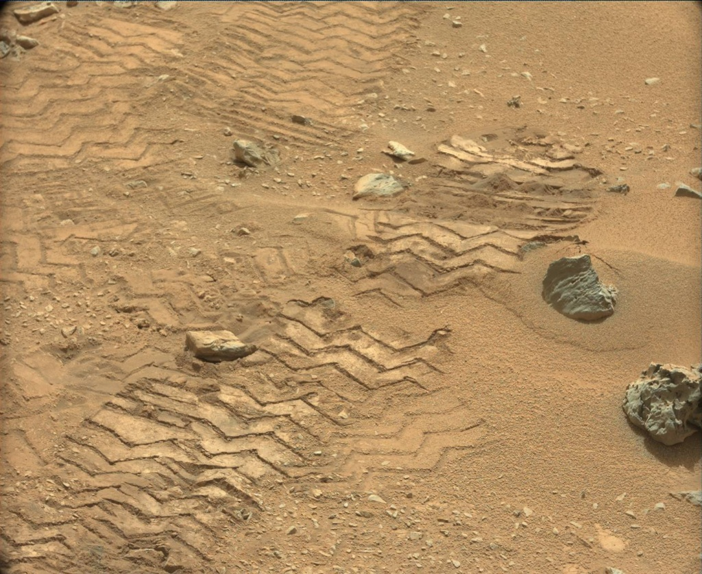 NASA's Mars rover Curiosity acquired this image using its Mast Camera (Mastcam) on Sol 102