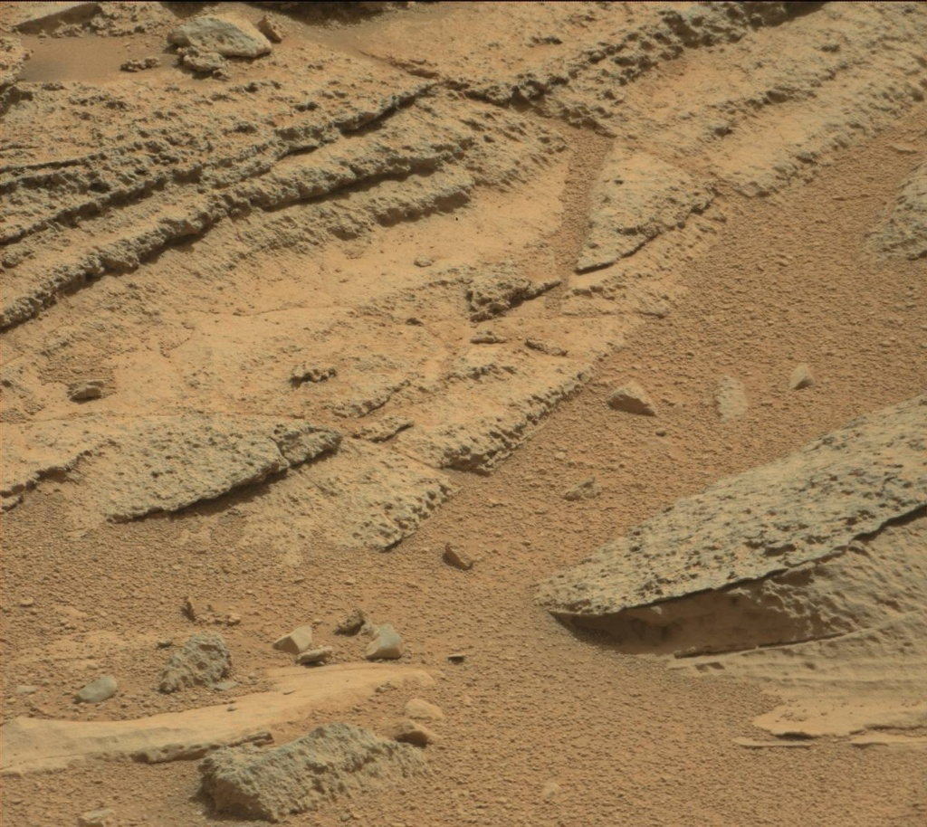 NASA's Mars rover Curiosity acquired this image using its Mast Camera (Mastcam) on Sol 121
