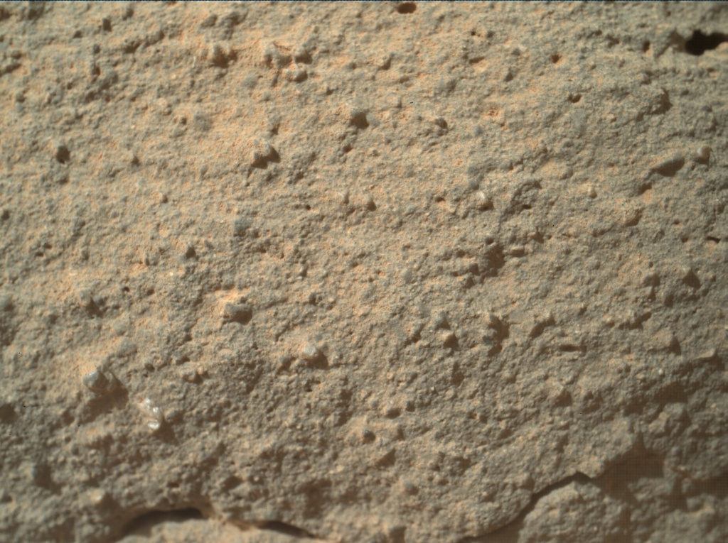NASA's Mars rover Curiosity acquired this image using its Mars Hand Lens Imager (MAHLI) on Sol 132