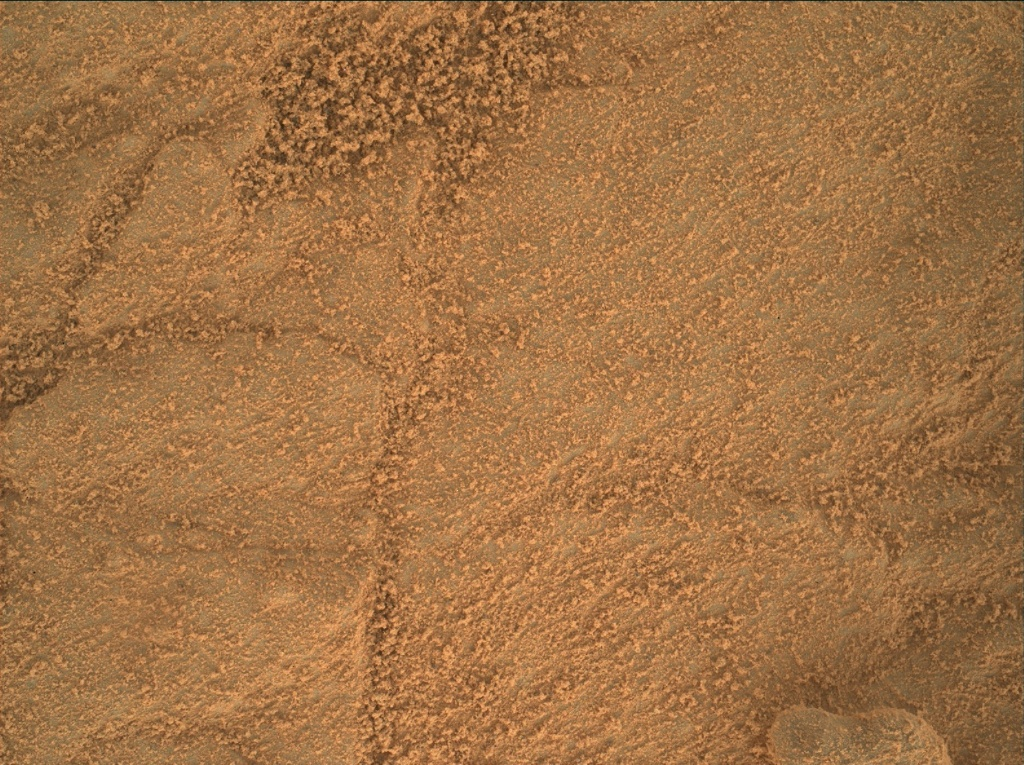 NASA's Mars rover Curiosity acquired this image using its Mars Hand Lens Imager (MAHLI) on Sol 156