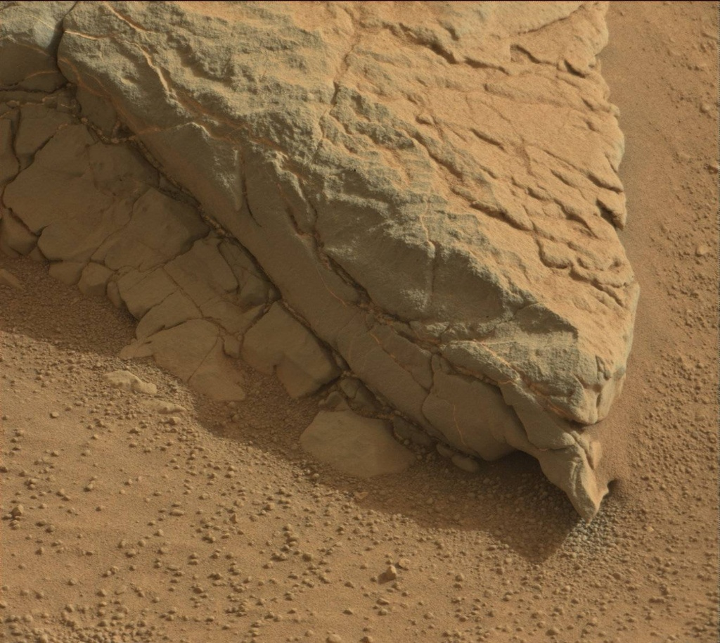 NASA's Mars rover Curiosity acquired this image using its Mast Camera (Mastcam) on Sol 158