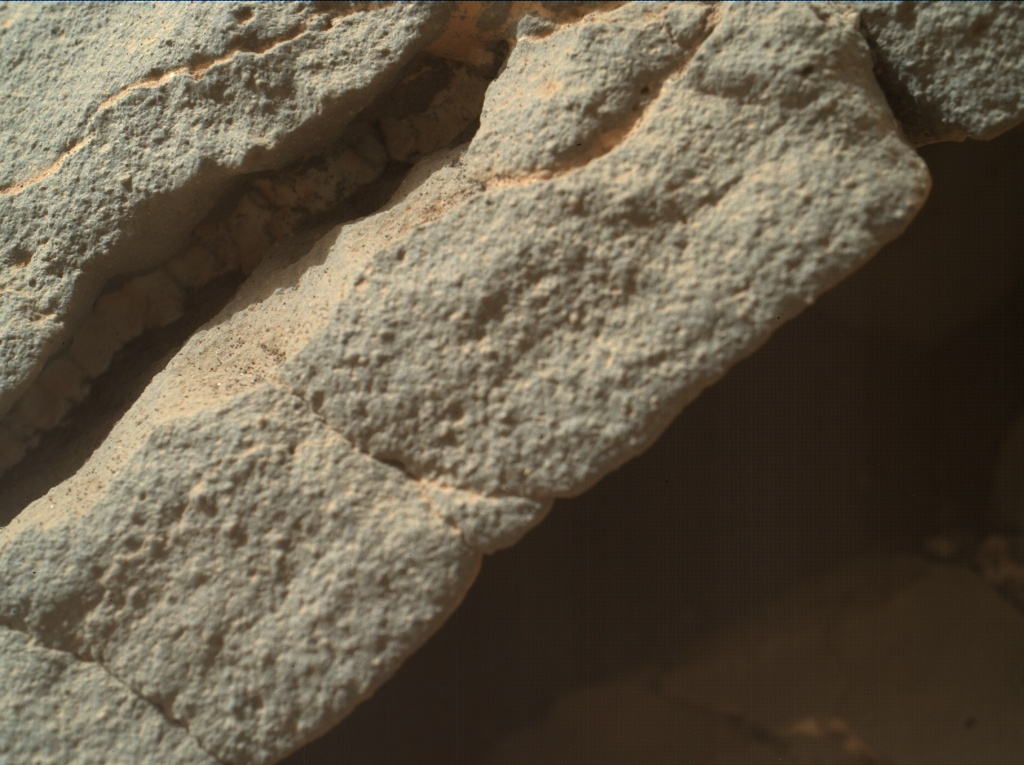 NASA's Mars rover Curiosity acquired this image using its Mars Hand Lens Imager (MAHLI) on Sol 158