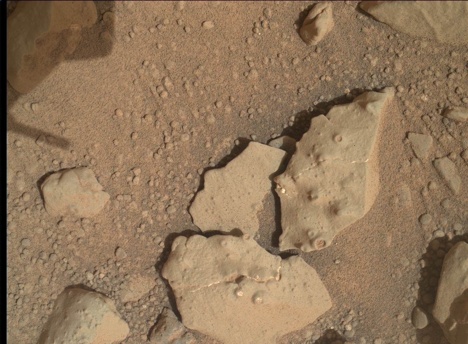 Nasa's Mars rover Curiosity acquired this image using its Mars Hand Lens Imager (MAHLI) on Sol 159