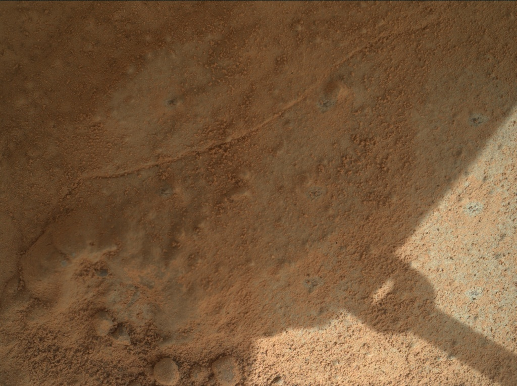 NASA's Mars rover Curiosity acquired this image using its Mars Hand Lens Imager (MAHLI) on Sol 161