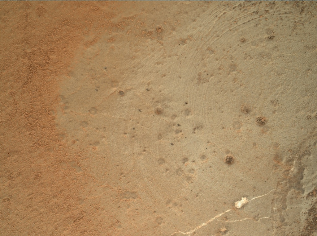 NASA's Mars rover Curiosity acquired this image using its Mars Hand Lens Imager (MAHLI) on Sol 173