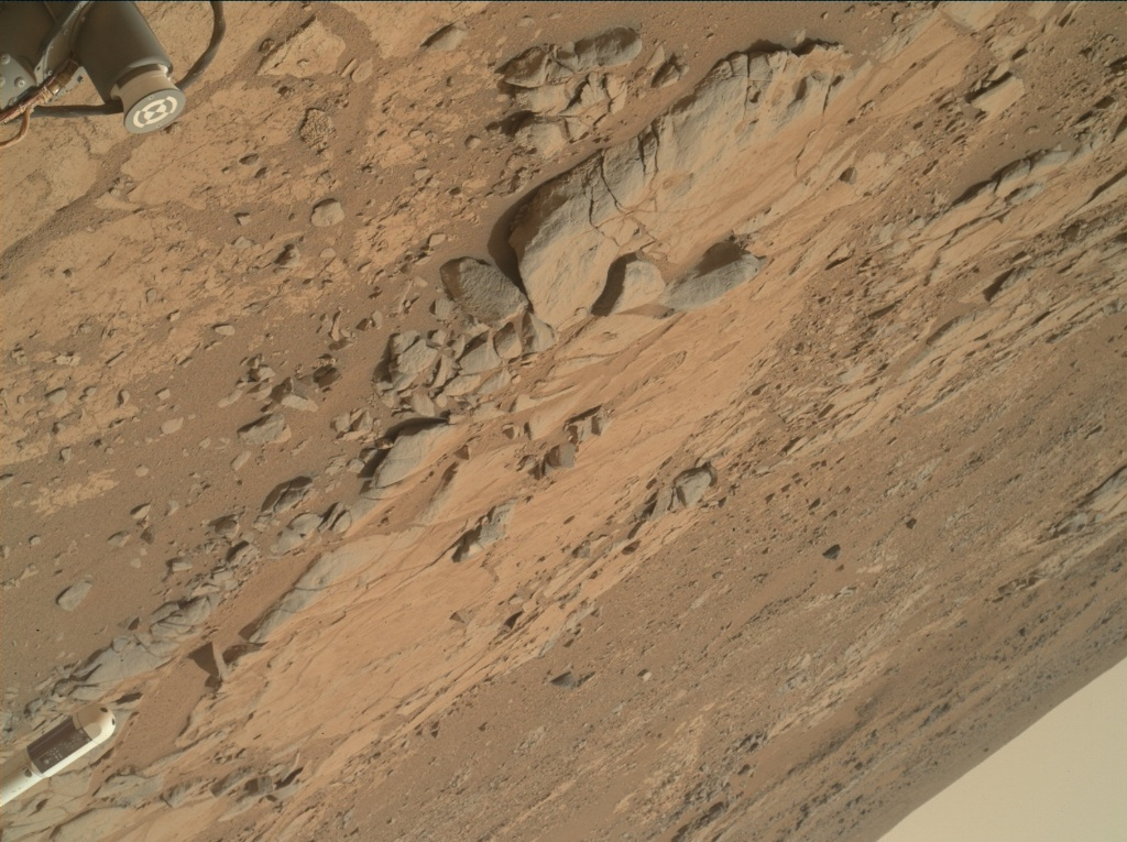 NASA's Mars rover Curiosity acquired this image using its Mars Hand Lens Imager (MAHLI) on Sol 177