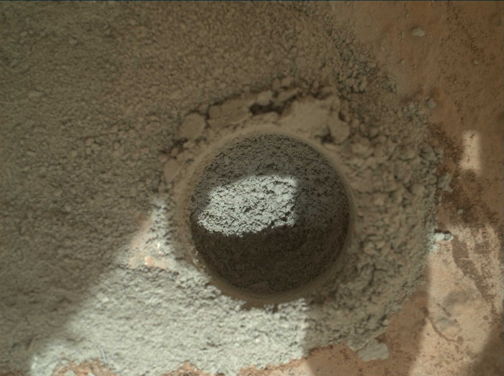 NASA's Mars rover Curiosity acquired this image using its Mars Hand Lens Imager (MAHLI) on Sol 180