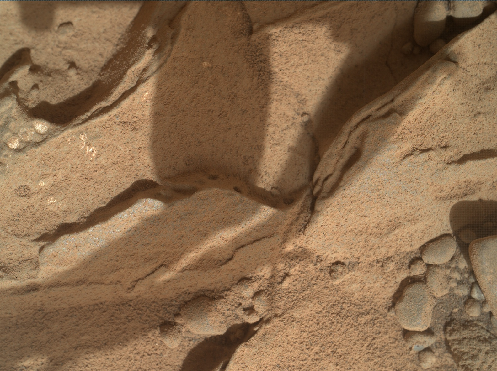 Nasa's Mars rover Curiosity acquired this image using its Mars Hand Lens Imager (MAHLI) on Sol 181