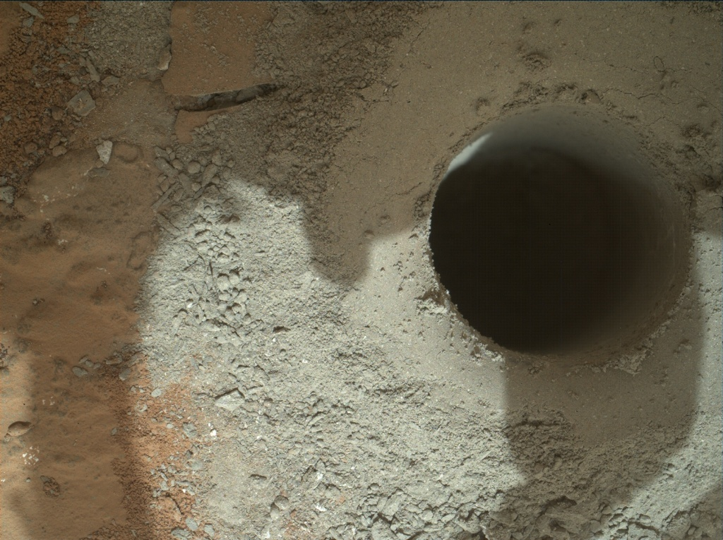 NASA's Mars rover Curiosity acquired this image using its Mars Hand Lens Imager (MAHLI) on Sol 182