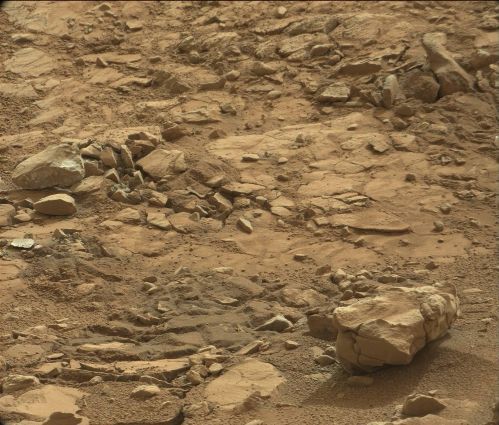NASA's Mars rover Curiosity acquired this image using its Mast Camera (Mastcam) on Sol 198