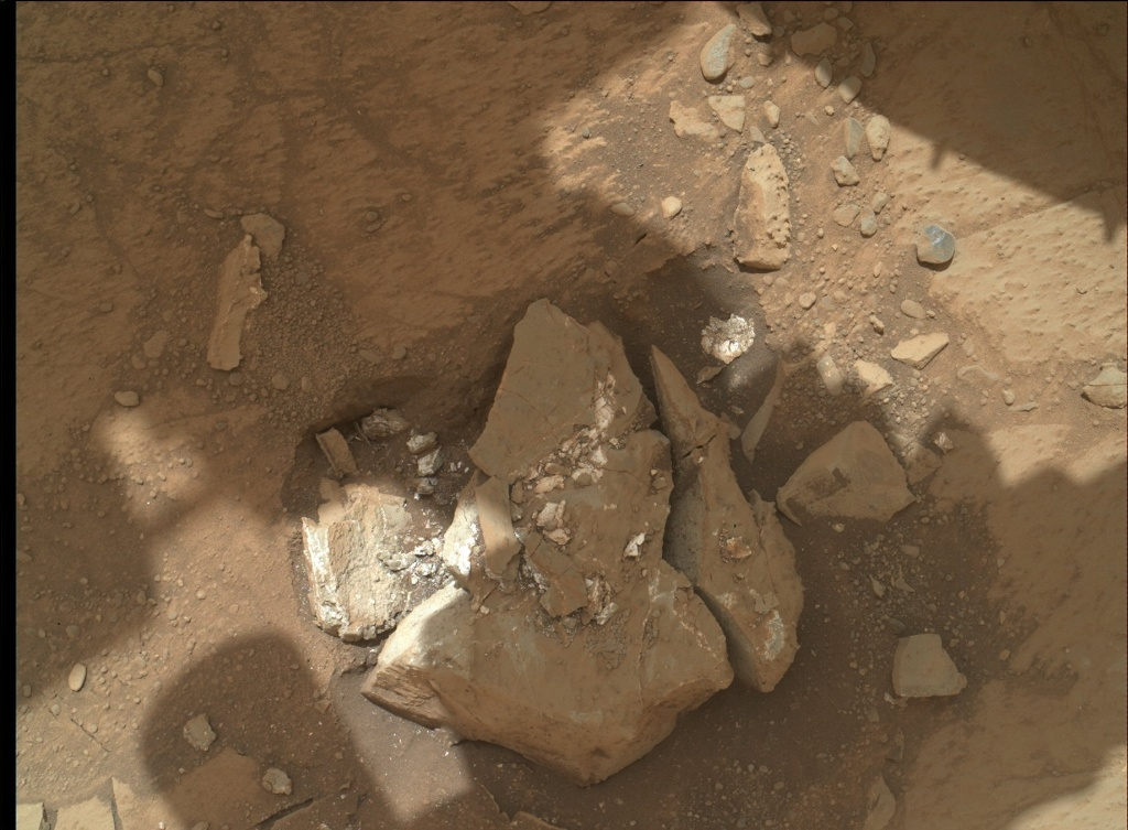 NASA's Mars rover Curiosity acquired this image using its Mars Hand Lens Imager (MAHLI) on Sol 231