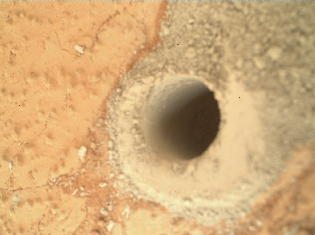 NASA's Mars rover Curiosity acquired this image using its Mars Hand Lens Imager (MAHLI) on Sol 279