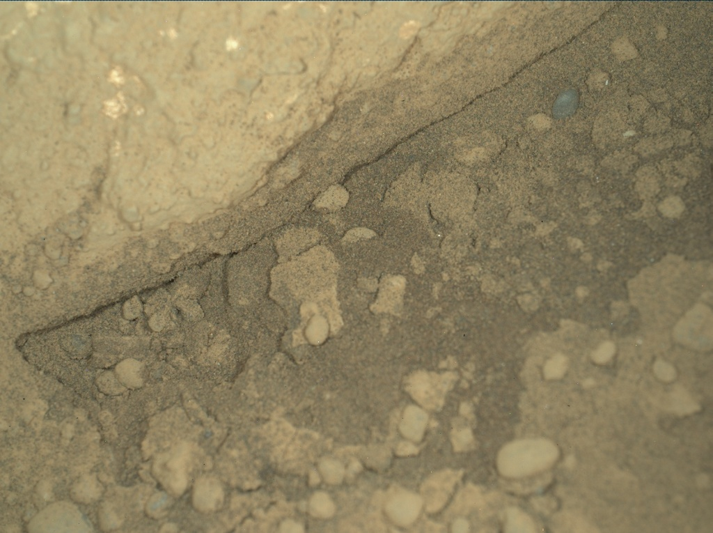 NASA's Mars rover Curiosity acquired this image using its Mars Hand Lens Imager (MAHLI) on Sol 292