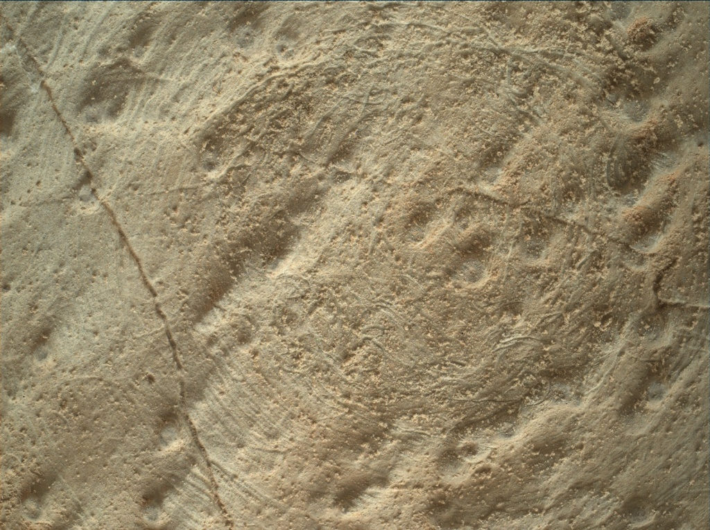 NASA's Mars rover Curiosity acquired this image using its Mars Hand Lens Imager (MAHLI) on Sol 295