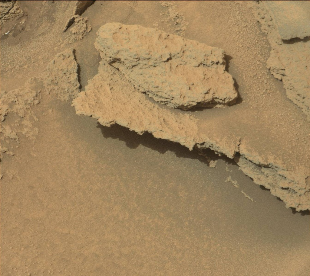 NASA's Mars rover Curiosity acquired this image using its Mast Camera (Mastcam) on Sol 313