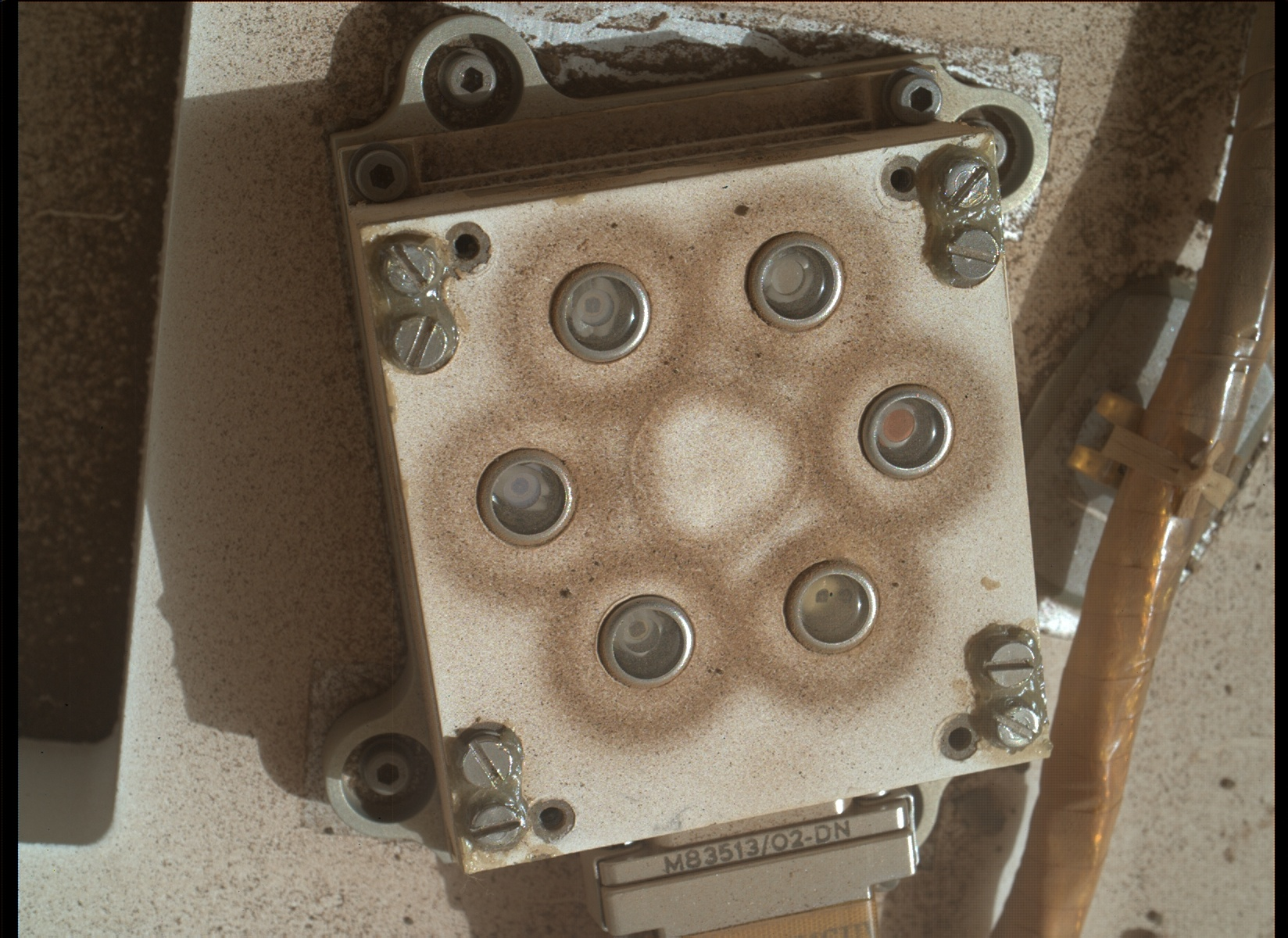 Nasa's Mars rover Curiosity acquired this image using its Mars Hand Lens Imager (MAHLI) on Sol 323