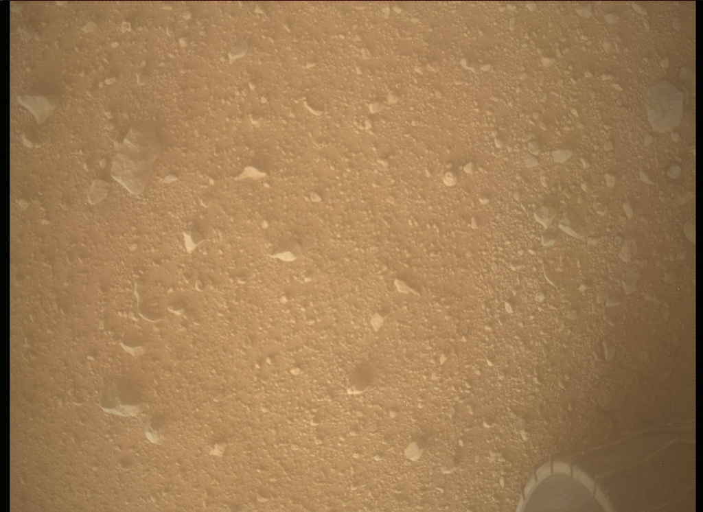 NASA's Mars rover Curiosity acquired this image using its Mars Descent Imager (MARDI) on Sol 345