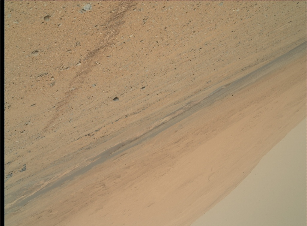 NASA's Mars rover Curiosity acquired this image using its Mars Hand Lens Imager (MAHLI) on Sol 354