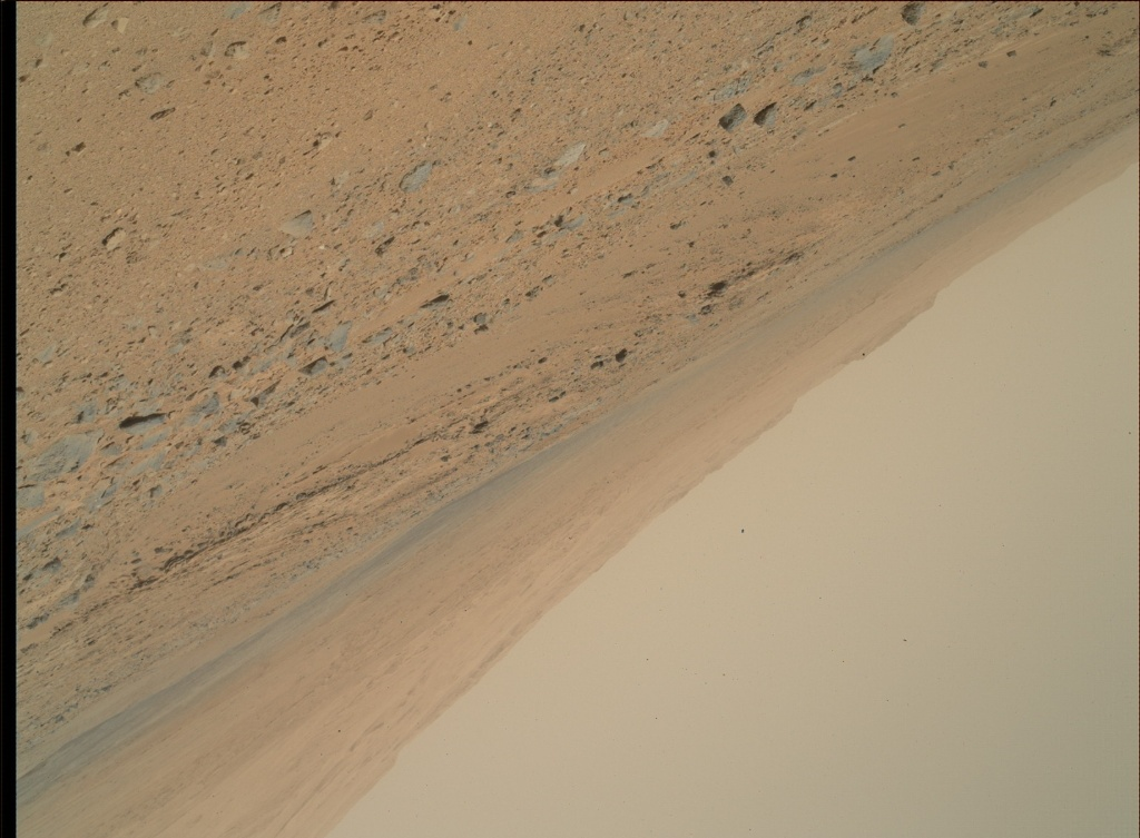 NASA's Mars rover Curiosity acquired this image using its Mars Hand Lens Imager (MAHLI) on Sol 374